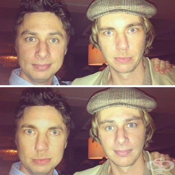 Зак Браф и Дакс Шепър смениха лицата си на снимката. Заблезвате ли?