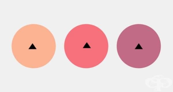 В кой кръг триъгълникът е разположен в средата?