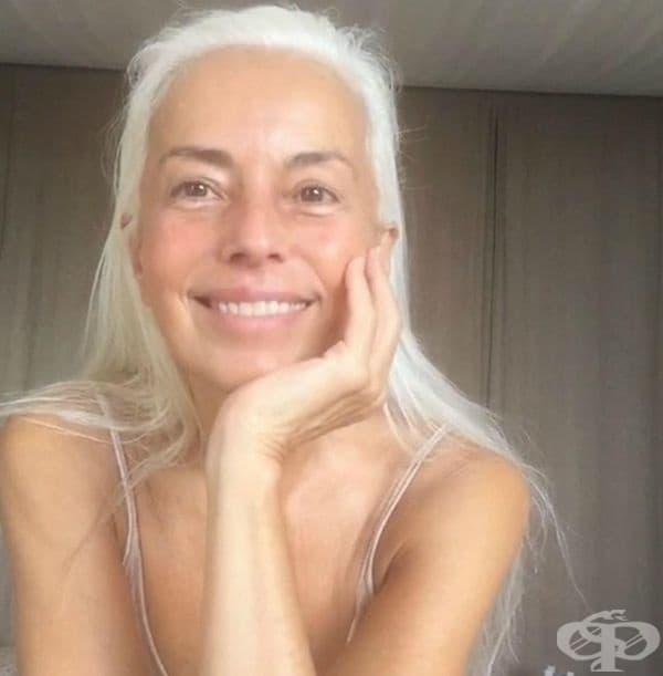 Тя се грижи старателно за кожата и косата си. Използва натурални масла като кокосово масло, зехтин и масло от рапица.