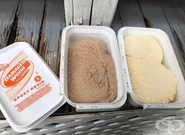 Това всъщност не е сладолед, а епоксидна смола.