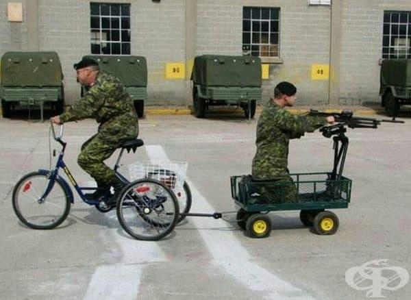 Нов транспорт за армията.