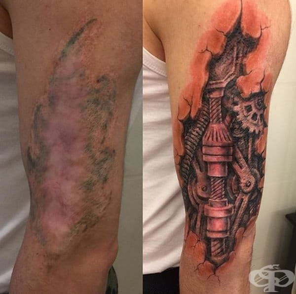Мястото е било идеално за тази татуировка.