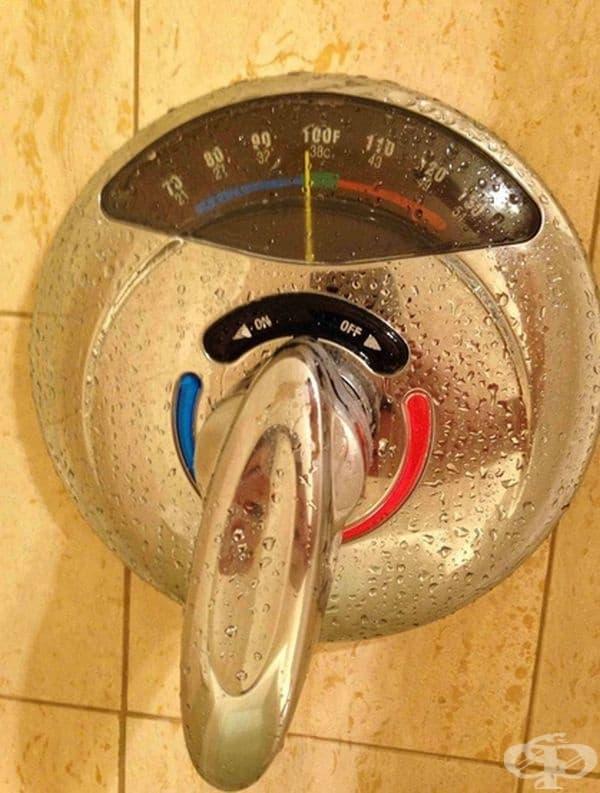 Термометър в баня.