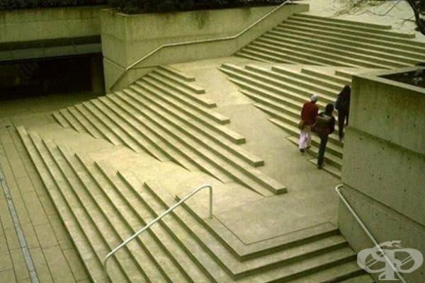 Стълбище, комбинирано с рампи.