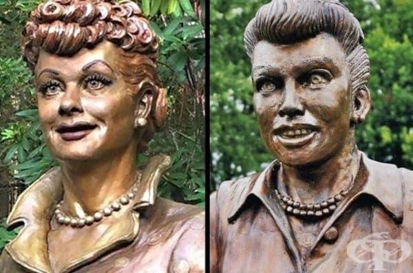 Паметникът е сменен, защото е имал страховит вид.