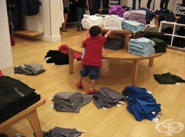 Никога не отивайте на пазар с деца. Никога.