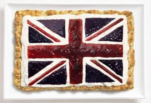Великобритания: питка,  сметана, конфитюр