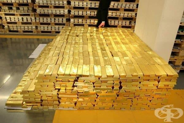 Така изглеждат 1 милион долара в златни кюлчета.
