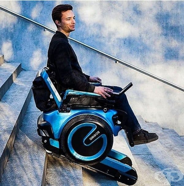 Инвалидна количка, която може да се изкачва и слиза безопасно по стълби без външна помощ. Scewo е изобретение, което помага на хората с увреждания да бъдат по-независими в ежедневието си.