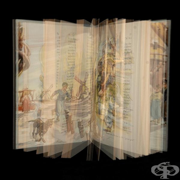 Книги с множество цветни експозиции доставят удоволствие от четенето