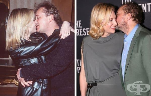 Кейт Бланшет: 22 години брак. Кейт среща Андрю Ъптън в Сидни през 1996 г. Една година по-късно двамата се женят. Бланшет твърди, че щастието на нейното семейство зависи от общите интереси и от липсата на тайни.