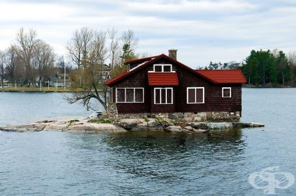 Дом в езерото.