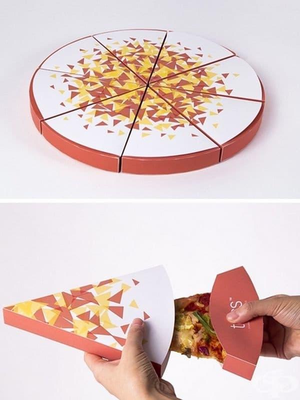 Пица на парче в отделни опаковки.