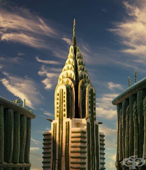 Карл обича да пресъздава известните сгради и градове.
