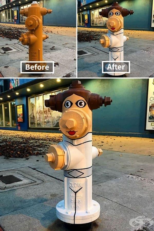 Уличен художник преобразява грозни градски обекти в интересни изображения