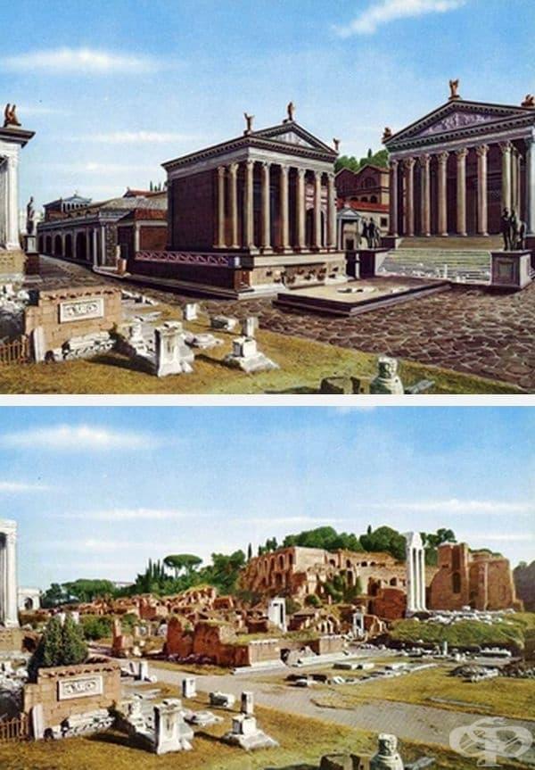 Храмът на Диоскурите и Храмът на Цезар