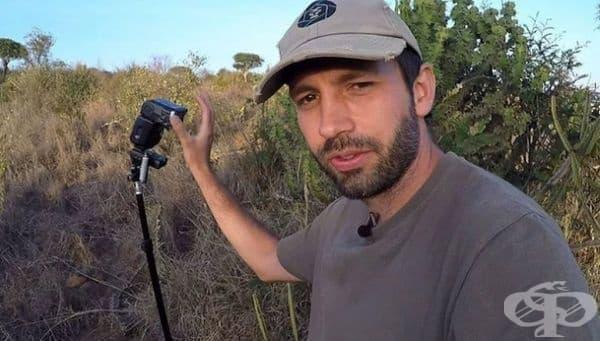 Това е фотографът Уил Бърърд-Лукас, благодарение на който можем да се полюбуваме на уникалния черен леопард.