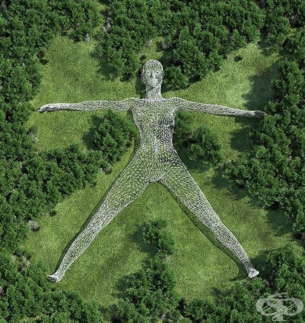 """""""Земен ангел"""": Чад Найт създава своите триизмерни скулптури сред невероятно реалистични пейзажи, размивайки тънката граница между дигиталния свят и реалния живот."""