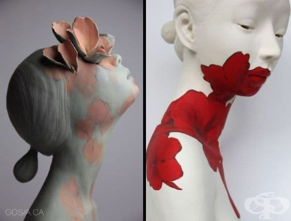 Скулпторът Госия от Торонто създава нежни женствени образи и разкрива вътрешния свят на жената.