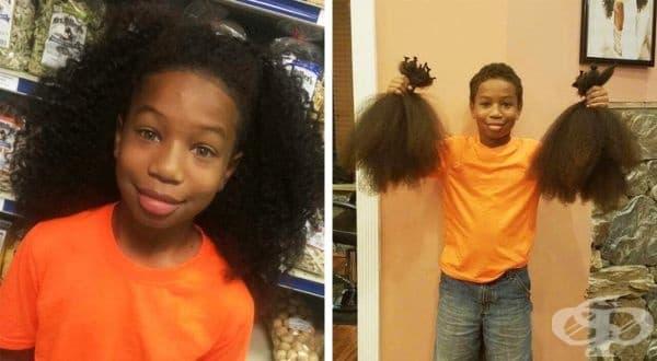Това момче спира да се постригва в продължение на 2 години, за да дари коса за деца, болни от рак.