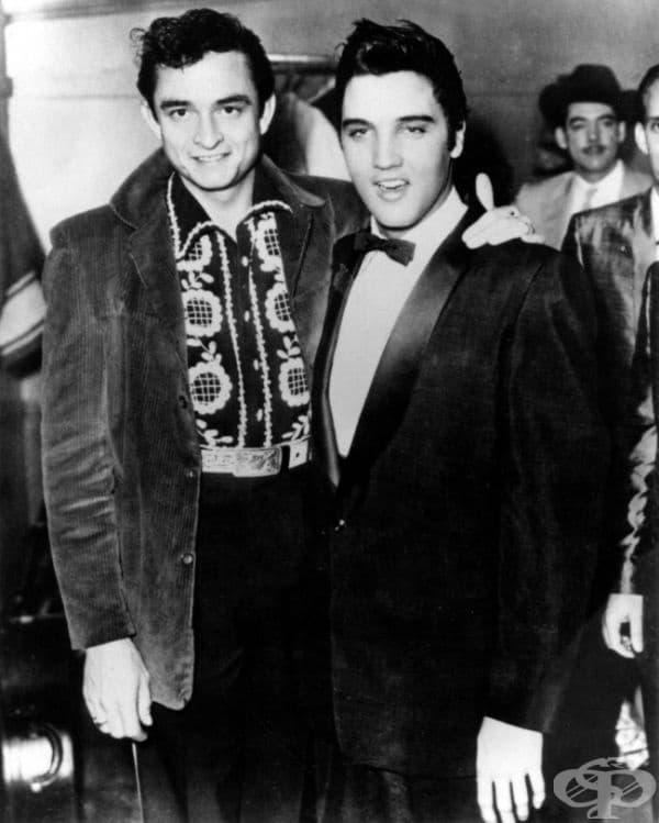 Елвис Пресли и Джони Кеш в Мемфис, 1957.