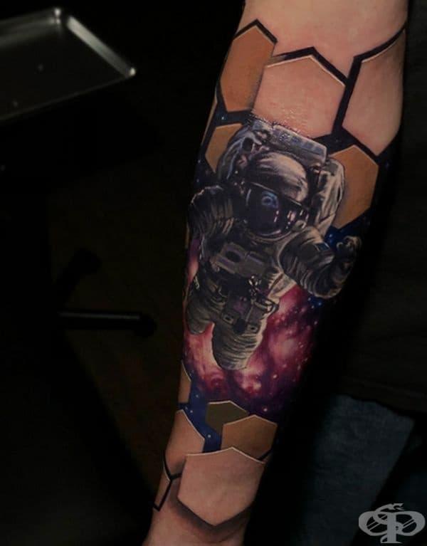 Триизмерни татуировки показват фантастически светове, скрити под кожата