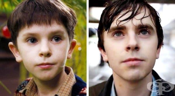 """Този млад актьор стана известен благодарение на ролята си в """"Чарли и шоколадовата фабрика"""". Днес Фреди Хаймор участва в сериала """"Добър лекар""""."""