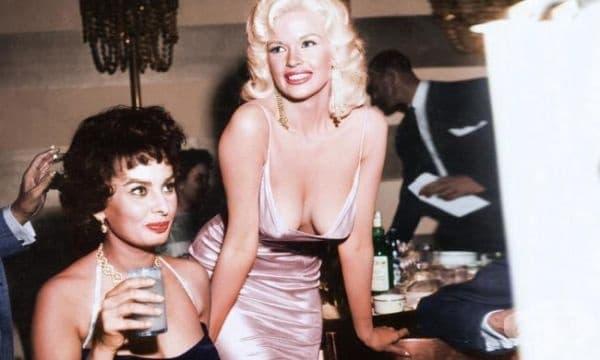 София Лорен и Джейн Мансфийлд, 1957г.