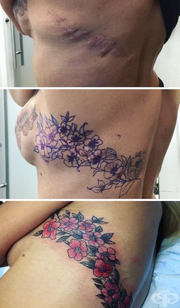 Цветните татуировки винаги впечатляват.