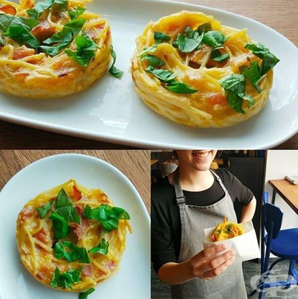 Понички от спагети. Това е вид закуска от макаронени изделия под формата на понички. Те могат да са сладки или солени.