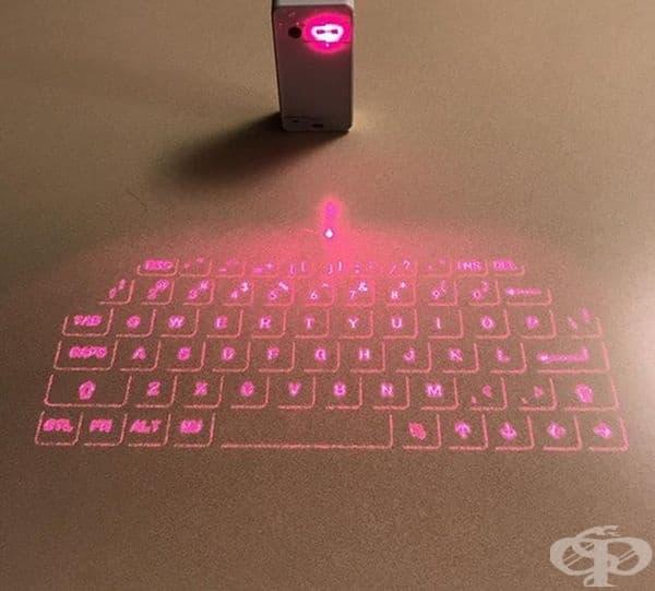 Лазерните клавиатури не заемат място и не се нуждаят от почистване.