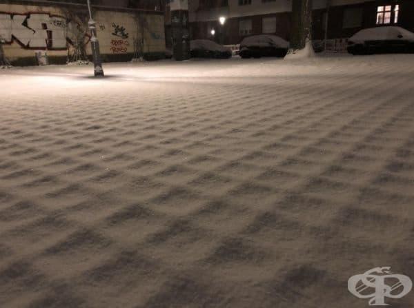 Зашеметяваща снежна покривка.