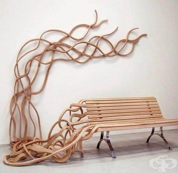 Скамейнка - спагети от Пабло Рейносо
