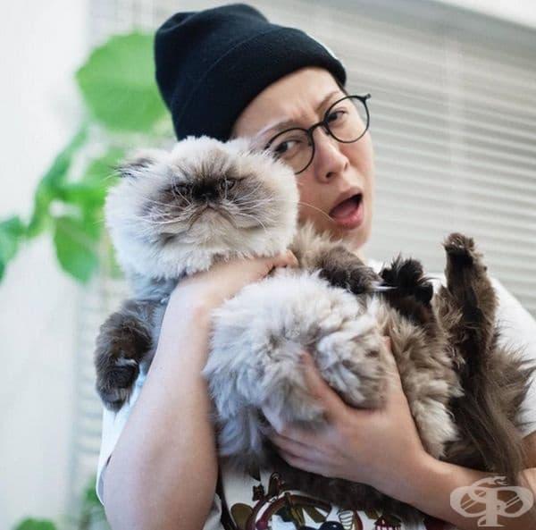 Стопанката на Нон го обожава, но котката не е много щастлива.
