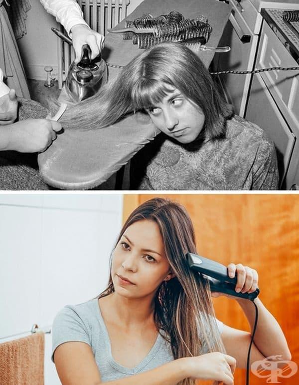 Изправяне на косата.