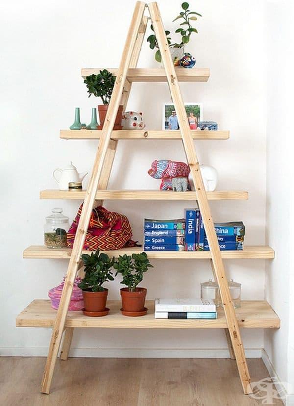 Имате свободна триъгълна стълба? Използвайте я за съхранение на различни вещи.