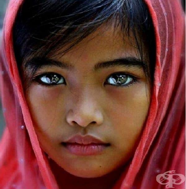 Тя има толкова черни и красиви очи, че можете да видите отражението си в тях!