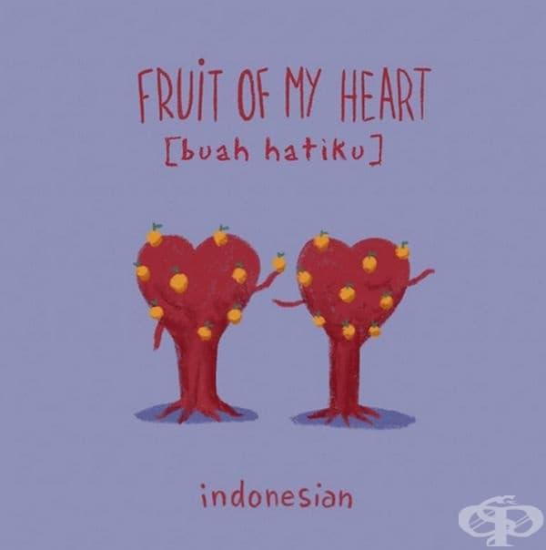 Плодът на сърцето ми. Индонезийски.