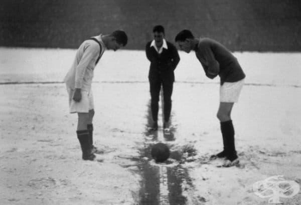 """Арсенал срещу Манчестър Юнайтед. Стадион """"Хайбъри"""", Лондон, 1926."""