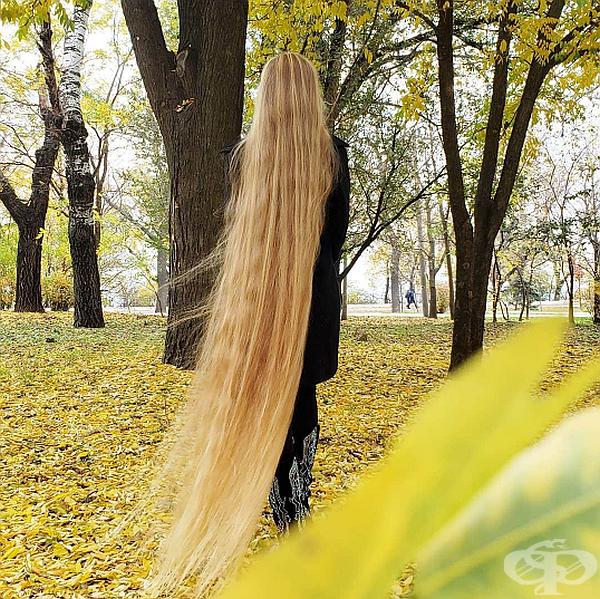 Жената мие косата си един път на седмица и цялата процедура трае около един час.