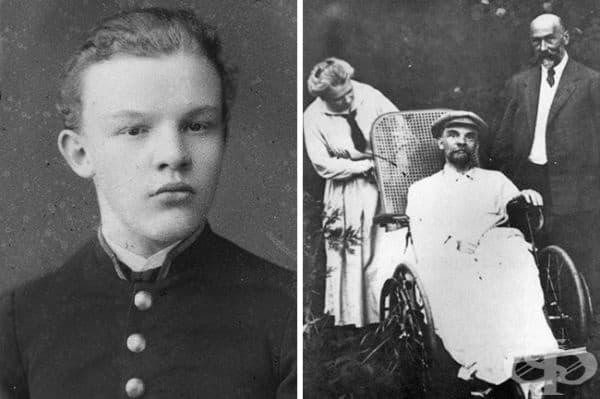Владимир Ленин като млад и неговата поредна снимка. Невъзможно е да си представим, че това е един и същ човек.