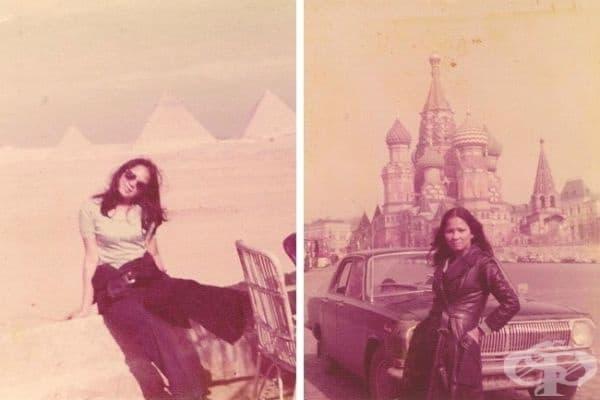 """""""Моята готина майка беше запален пътешественик."""", Кайро и Москва, 1975."""