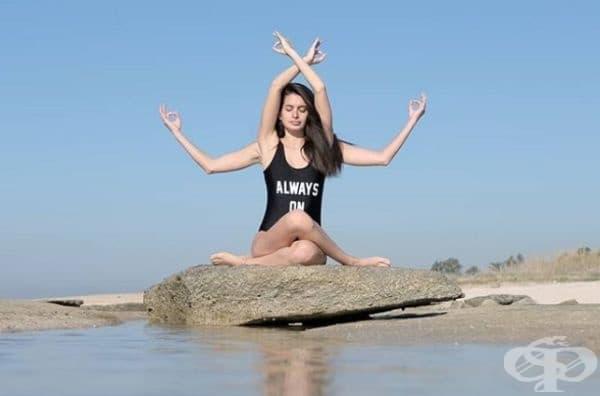 На плажа може да се медитира.