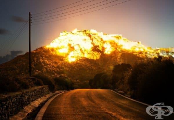 Не вярвайте на очите си, ако мислите, че виждате експлозия... или дори изригване.