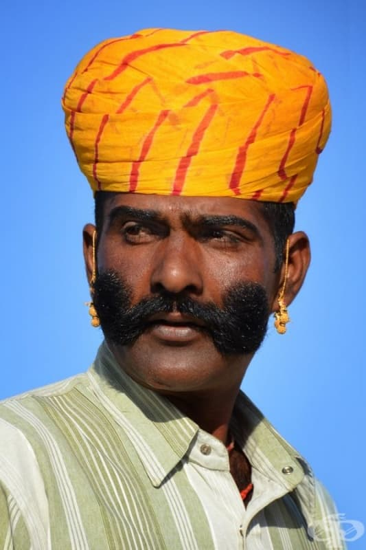 Мъж от Раджастан, Индия.