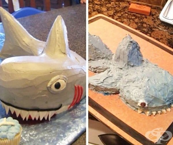 Торта акула.