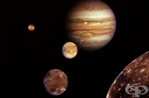 Първата снимка на Юпитер и неговите спътници, 1979 г.
