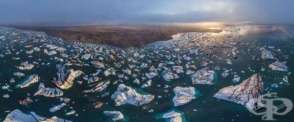 Ледникова лагуна Йокулсарлон, Исландия.