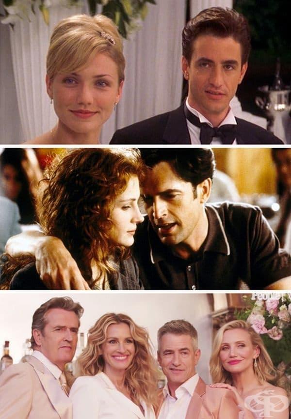 """""""Сватбата на най-добрия ми приятел"""", 1997 и 2019 г. 22 години след премиерата на филма Entertainment Weekly събра актьорите заедно, за да участват във фотосесия и интервю."""