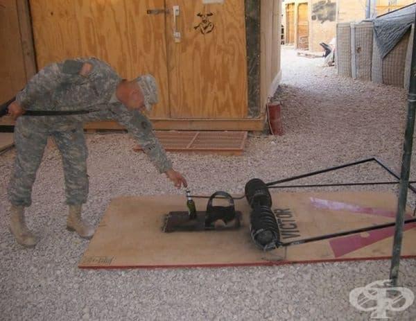 Войниците не се страхуват от капани.